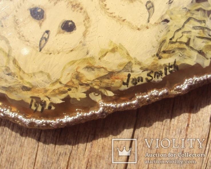 Авторский кулон, серебро, живопись., фото №7