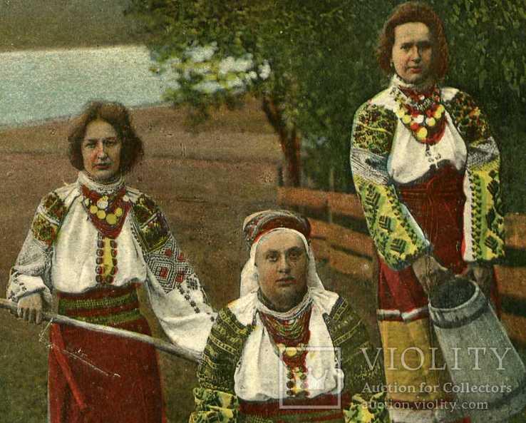 Открытка Украинские типы Гуцулки изд. Оренштайна, фото №4