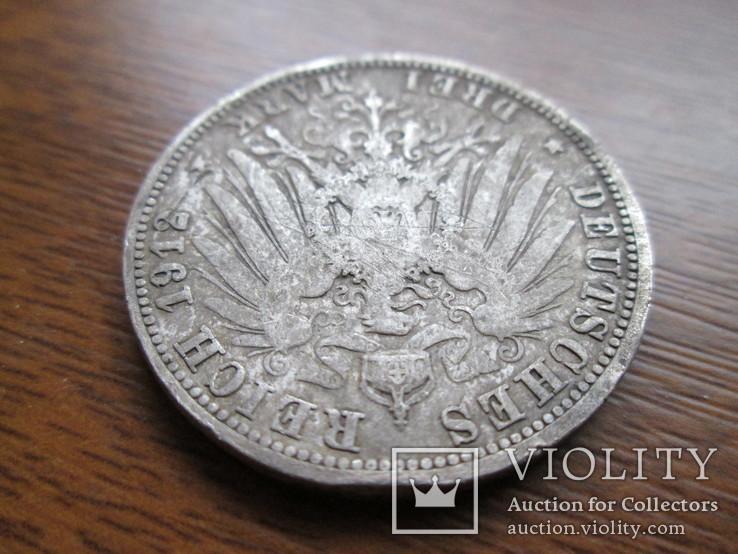 Три марки 1912 год Вильгельм II (серебро), фото №5