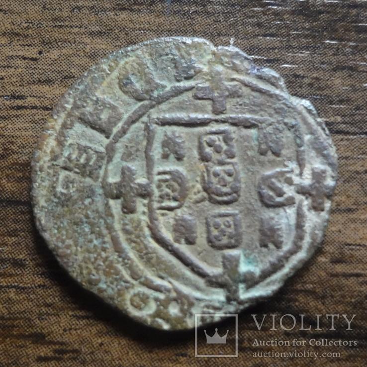 1 сейтил 1/6 реала  (1521-1557)  Португалия  Жуан III  (Л.10.21)~, фото №3