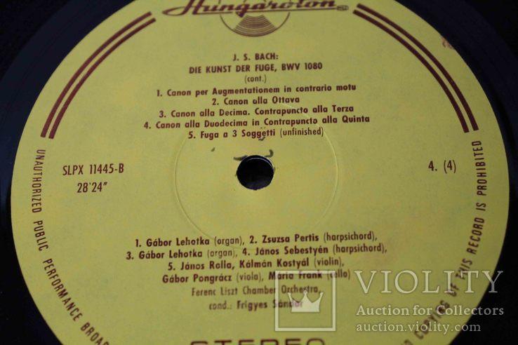 Пластинки 2 шт. J. S. Bach- Die Kunst Der Fuge, фото №12