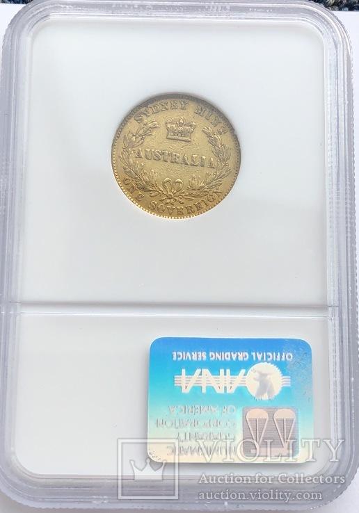 Соверен 1867 год Австралия золото 7,99 грамм 917', фото №4