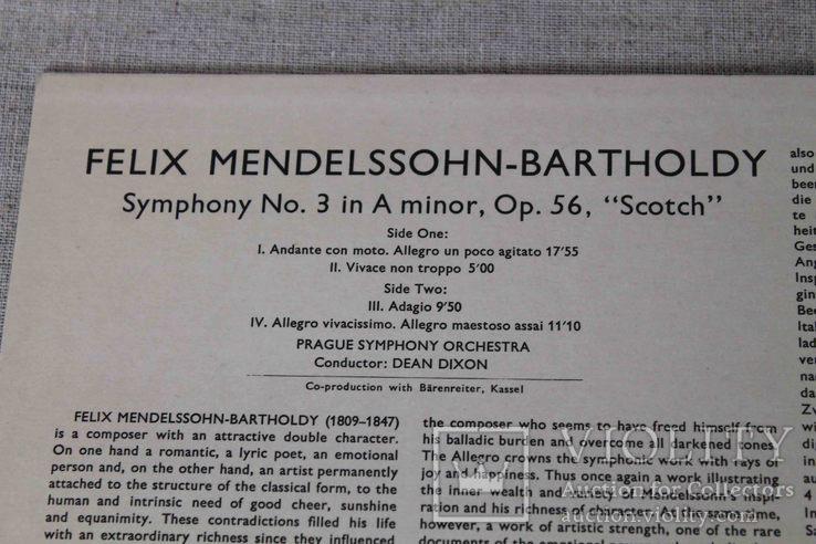 Пластинка. MENDELSSOHN SYMPHONY NO.3 'SCOTCH', фото №4