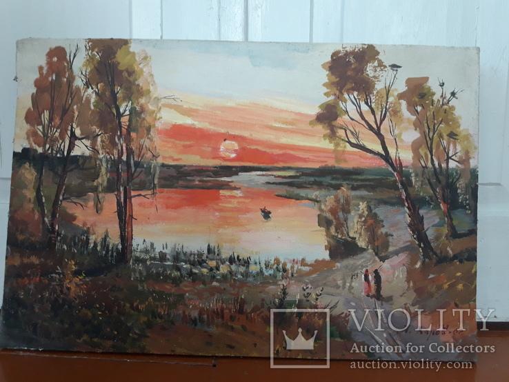 Картина Сельский закат., фото №6