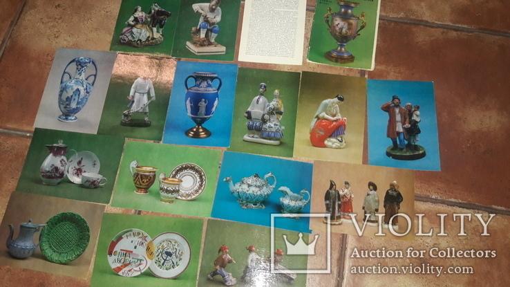 Набор открытки Фарфор фаянс Харьковский художественній музей 1981 СССР Харьков, фото №2