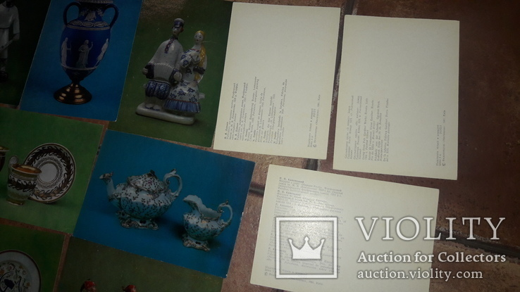 Набор открытки Фарфор фаянс Харьковский художественній музей 1981 СССР Харьков, фото №5