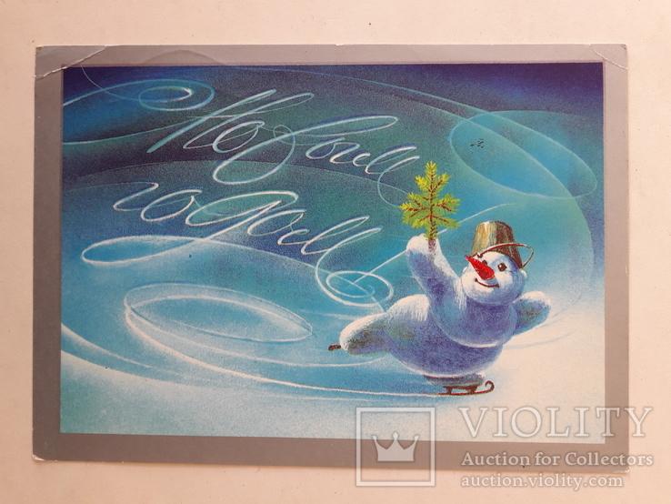 креативные открытки с годом как пластина