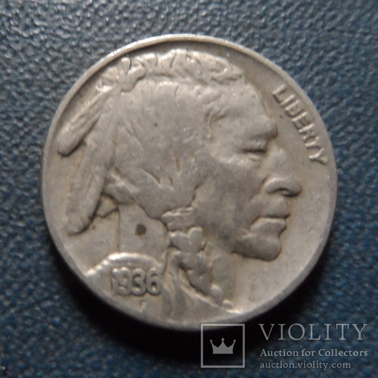 5 центов 1936  США    (Г.2.6)~, фото №2