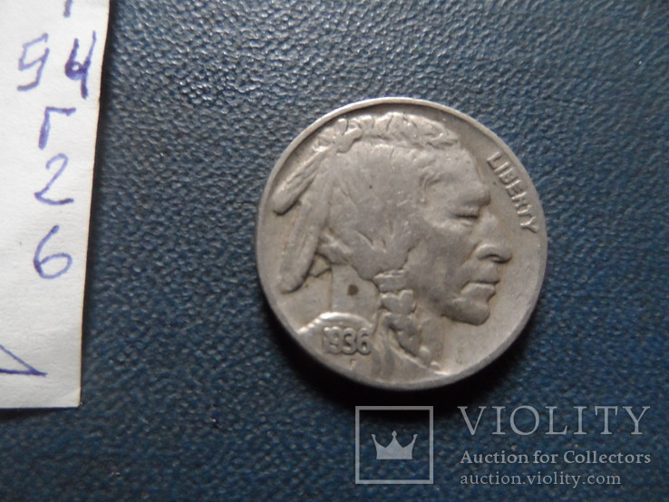 5 центов 1936  США    (Г.2.6)~, фото №4