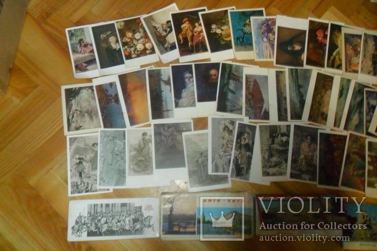 Открытки 1375 штук искусство музеи художники и др. наборы + немного города, фото №8