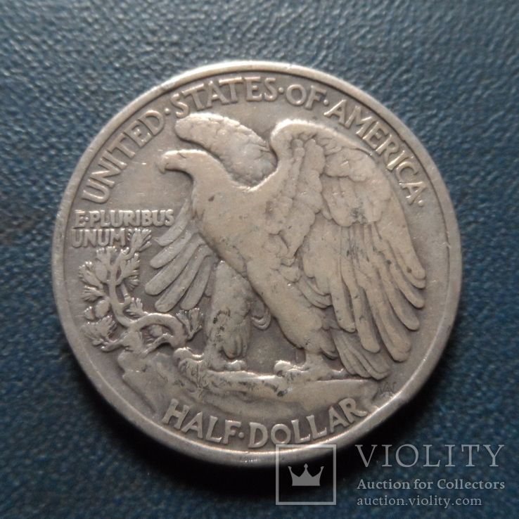 50 центов  1943 США  серебро      (Ж.4.5)~, фото №3