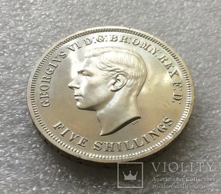 Великобритания. 5 Шиллингов / Крона 1951 г. Proof. Георг VI, фото №3