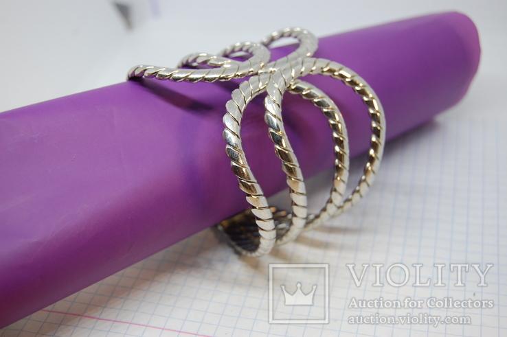 Широкий разжимной браслет, фото №3