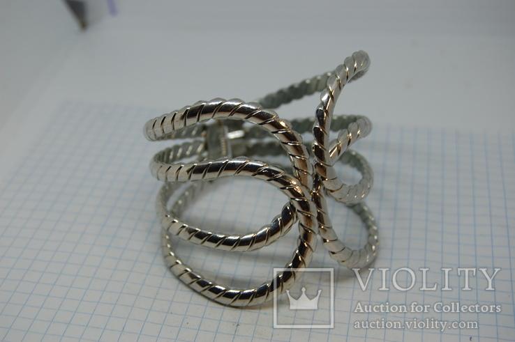 Широкий разжимной браслет, фото №5