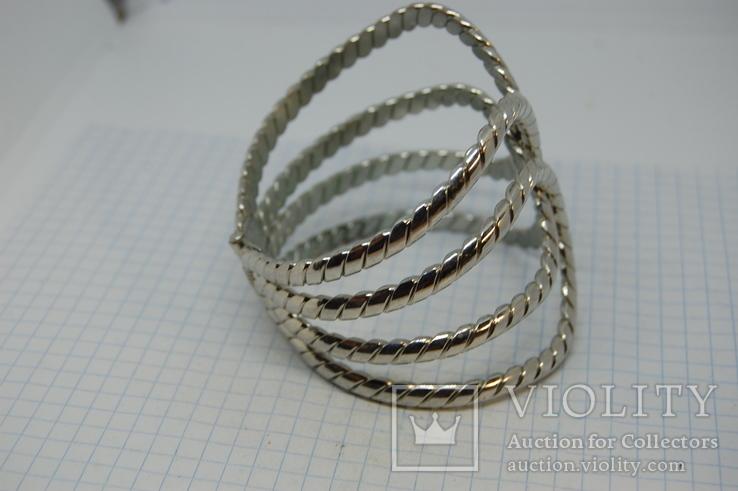 Широкий разжимной браслет, фото №6