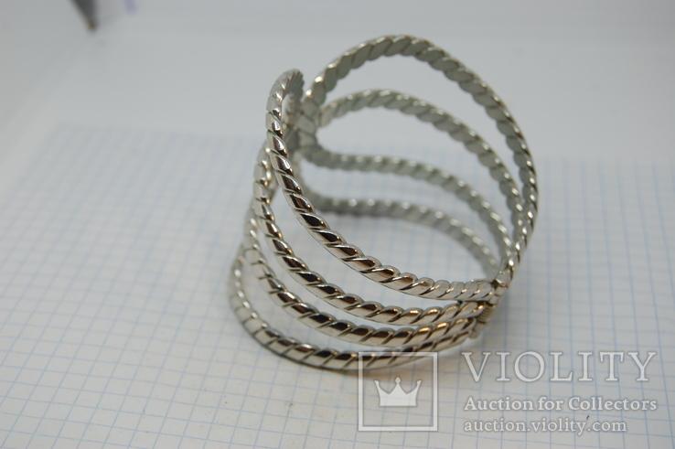 Широкий разжимной браслет, фото №8