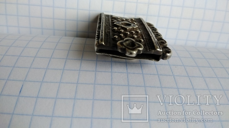 Часть пояса серебро 84пр. чернение именник В.Г масса 20,07г, фото №6