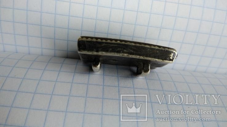 Часть пояса серебро 84пр. чернение именник В.Г масса 20,07г, фото №7