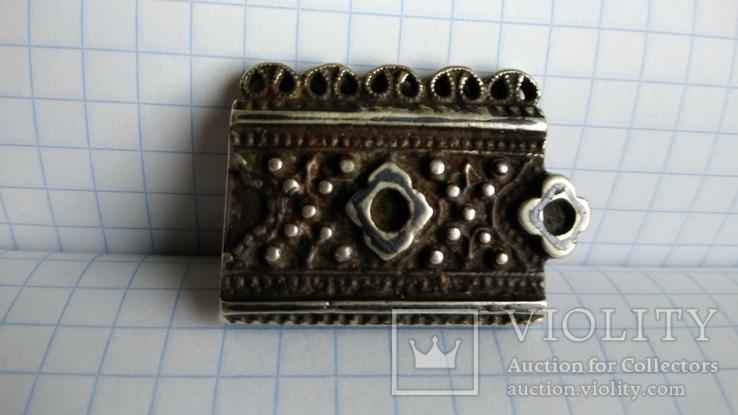 Часть пояса серебро 84пр. чернение именник В.Г масса 20,07г, фото №8