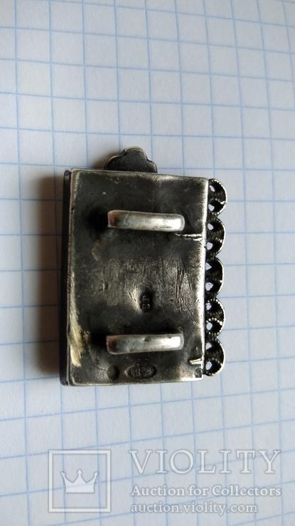 Часть пояса серебро 84пр. чернение именник В.Г масса 20,07г, фото №10