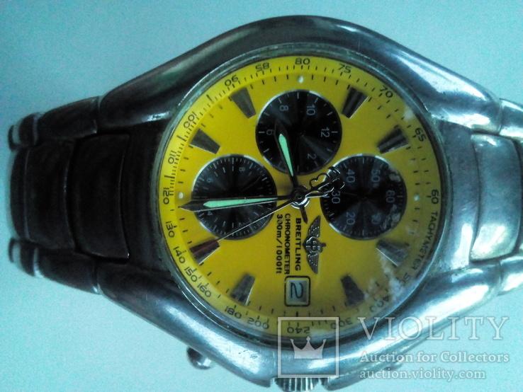Часы похожие на Breitling. Кварцевые механизм Japan. Роб очие., фото №2