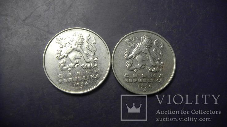 5 крон Чехія 1994 (два різновиди), фото №2