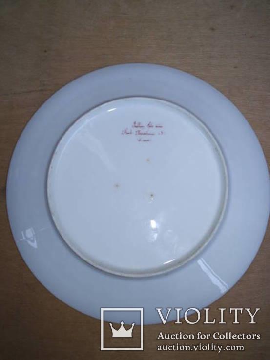 Старинная тарелка с вензелем. ( Изготовлена в Париже в первой половине 19века), фото №3