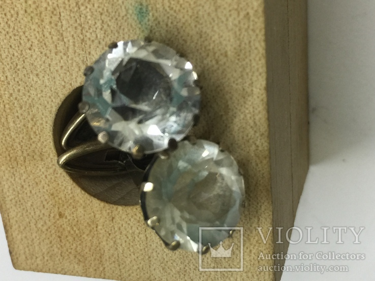 Запонки серебро 875, фото №9