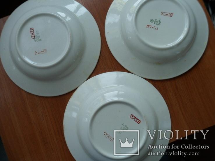 3 тарелки для борщу., фото №4