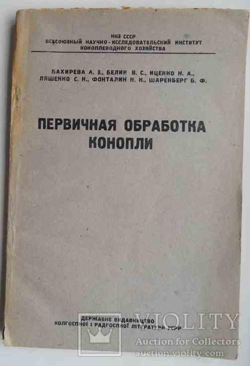 Первичная обработка конопли. 1936, фото №2