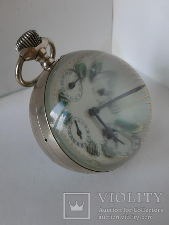 Часы Лунник стеклянный шар, фото №7
