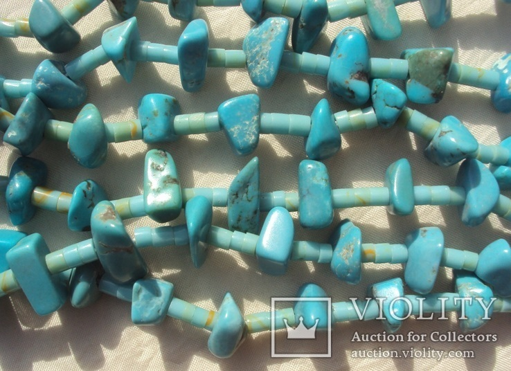 Бусы ожерелье натуральная бирюза США., фото №6