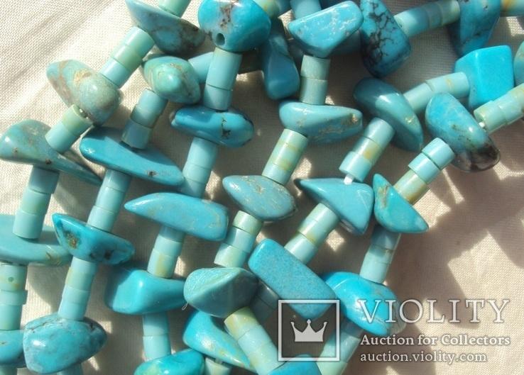 Бусы ожерелье натуральная бирюза США., фото №8