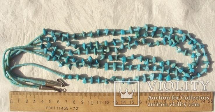 Бусы ожерелье натуральная бирюза США., фото №11