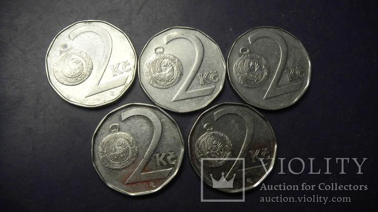 2 крони Чехія (порічниця) 5шт, всі різні, фото №3