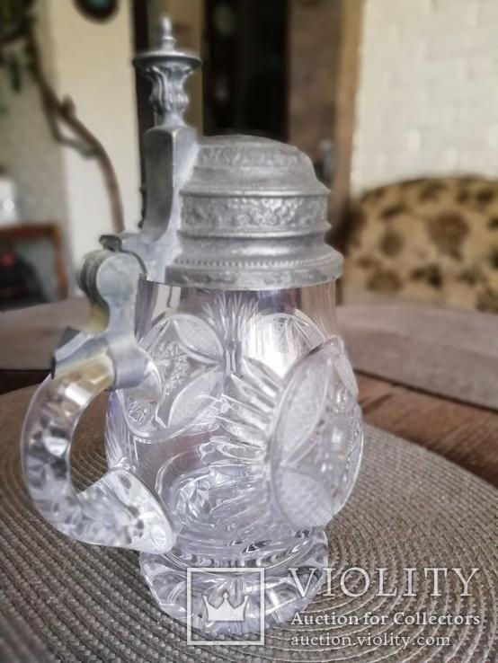 Старинный хрустальный бокал, фото №3