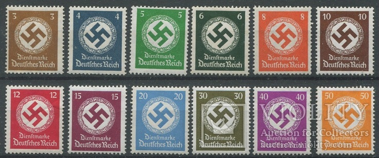 1934-38 Рейх полная серия MNH/MH