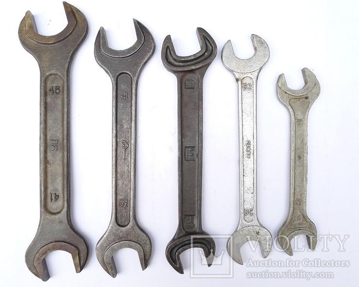 Ключи рожковые большие 46х41, 41х36, 36х32, 32х30, 30х27