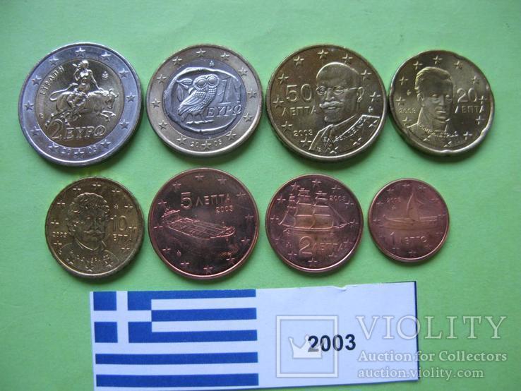 Греция, набор евро монет 2003 г . UNC.
