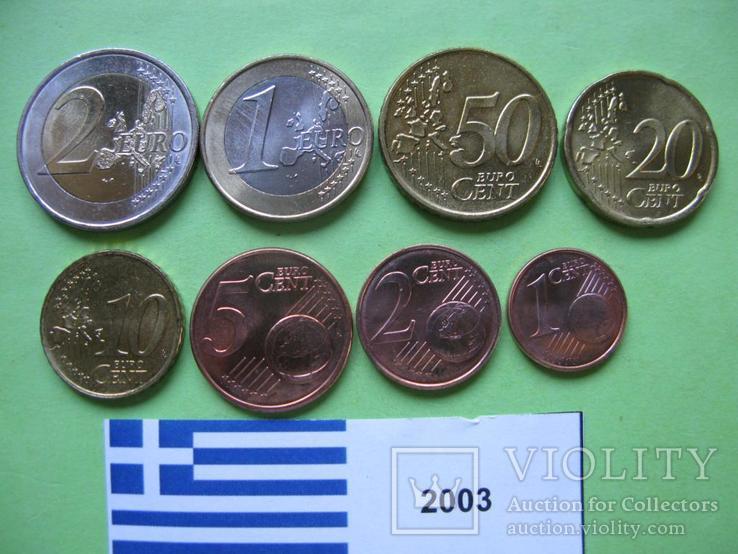 Греция, набор евро монет 2003 г . UNC., фото №3