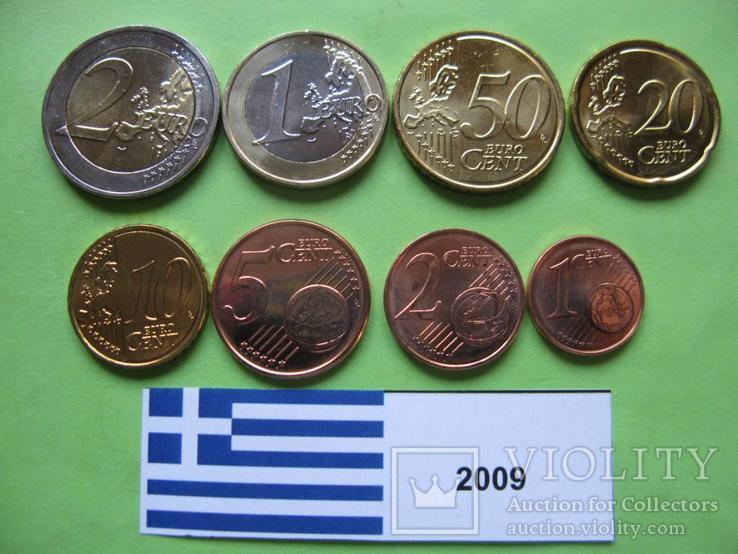 Греция, набор евро монет 2009 г. UNC.