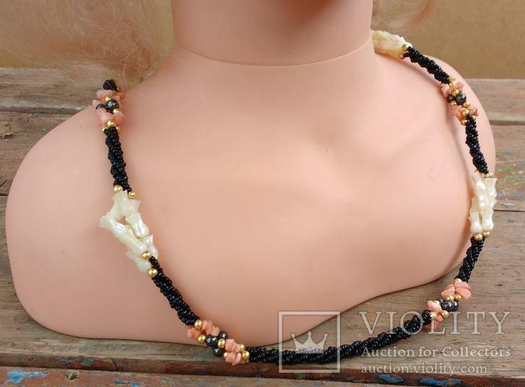 Ожерелье перламутр, минералы..., фото №4