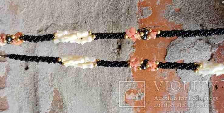 Ожерелье перламутр, минералы..., фото №7