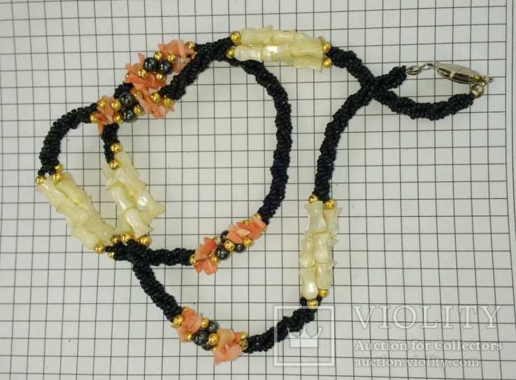 Ожерелье перламутр, минералы..., фото №10