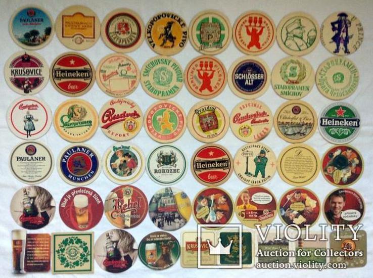 Костеры - бирдекели под пивные кружки и бокалы Германии и Чехии. 49 штук., фото №2