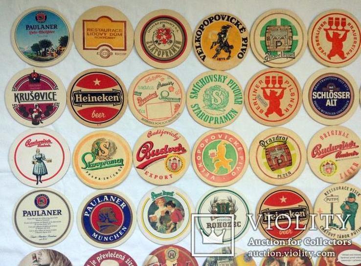Костеры - бирдекели под пивные кружки и бокалы Германии и Чехии. 49 штук., фото №3