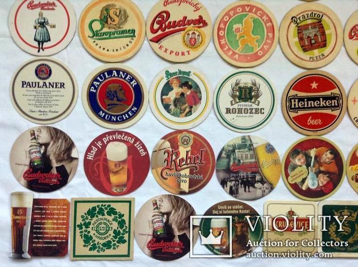 Костеры - бирдекели под пивные кружки и бокалы Германии и Чехии. 49 штук., фото №5