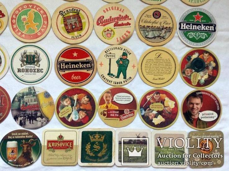 Костеры - бирдекели под пивные кружки и бокалы Германии и Чехии. 49 штук., фото №8