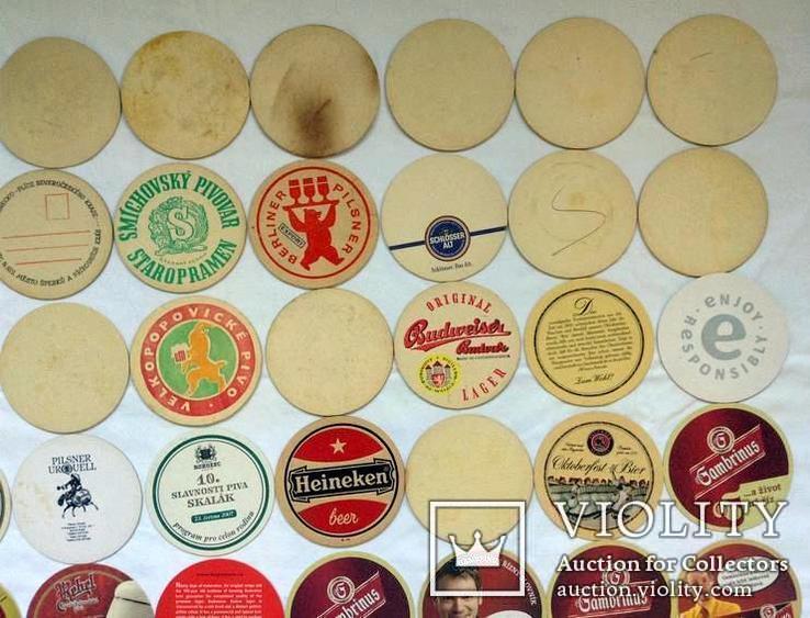 Костеры - бирдекели под пивные кружки и бокалы Германии и Чехии. 49 штук., фото №9