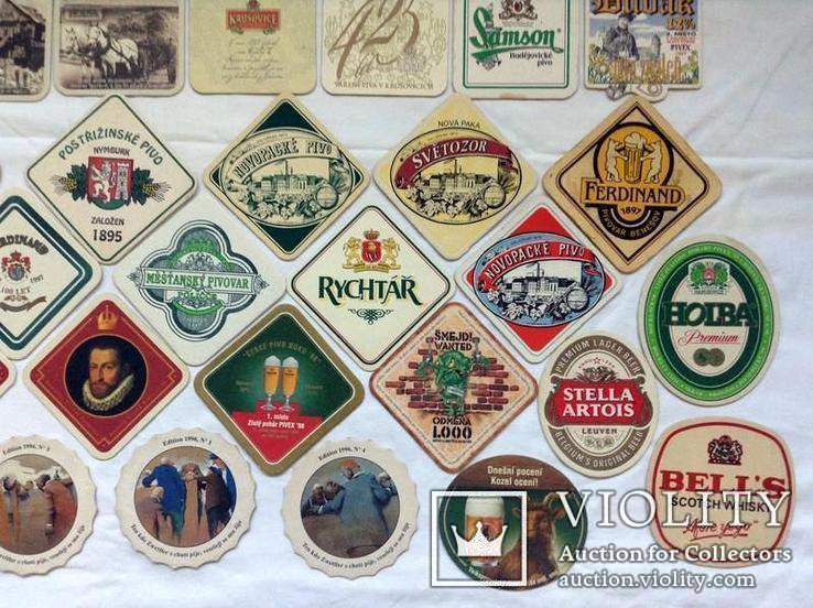 Костеры - бирдекели под пивные кружки и бокалы Чехии и Германии. 56 штук., фото №4